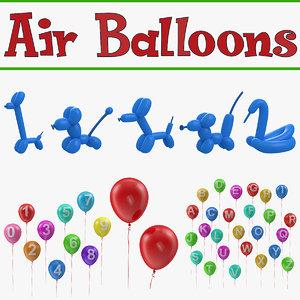 air balloons 3D