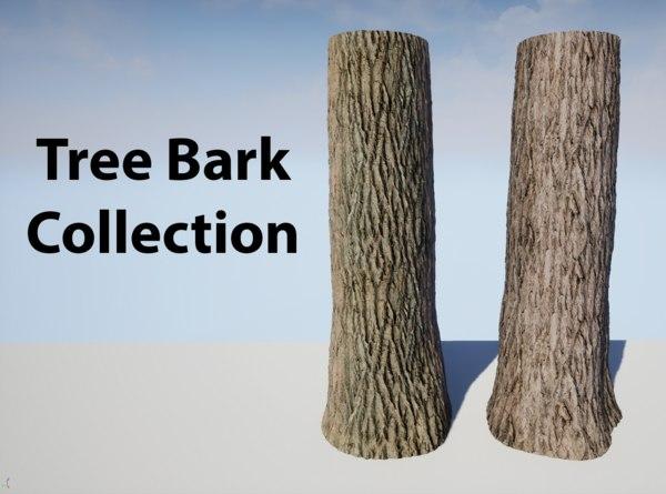 tree bark 3D model