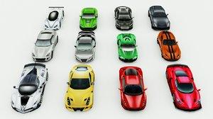 3D 12 sport cars vol2 model