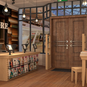 bookstore shop book store 3D model