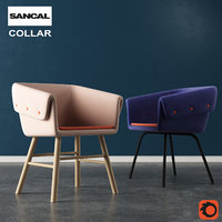 3D model collar chair