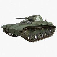 tank t 60 soviet 3D model