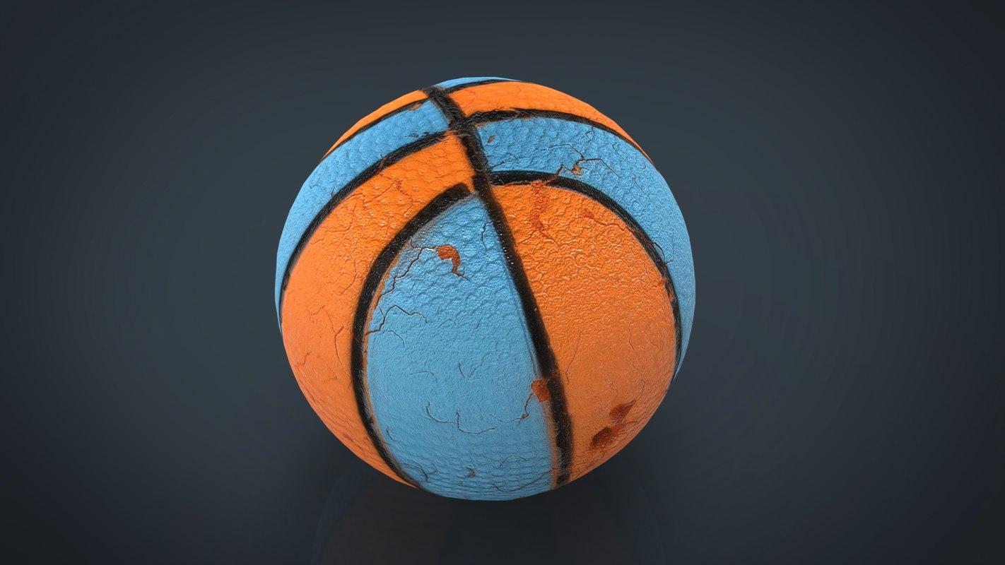 3D dog ball model