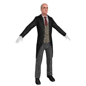 butler 3D model