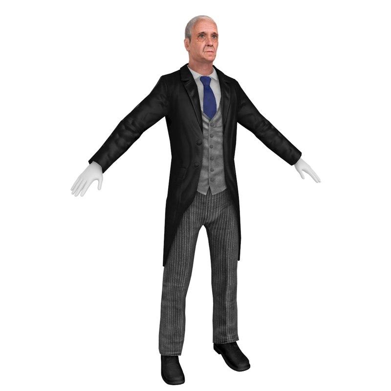 3D butler model