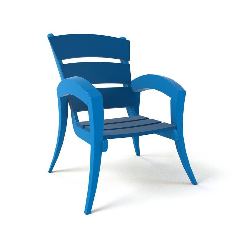 cartoon armchair 17 model