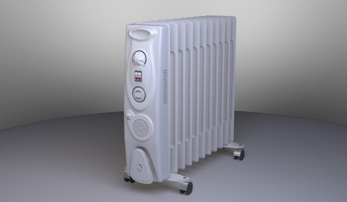 3D oil radiator
