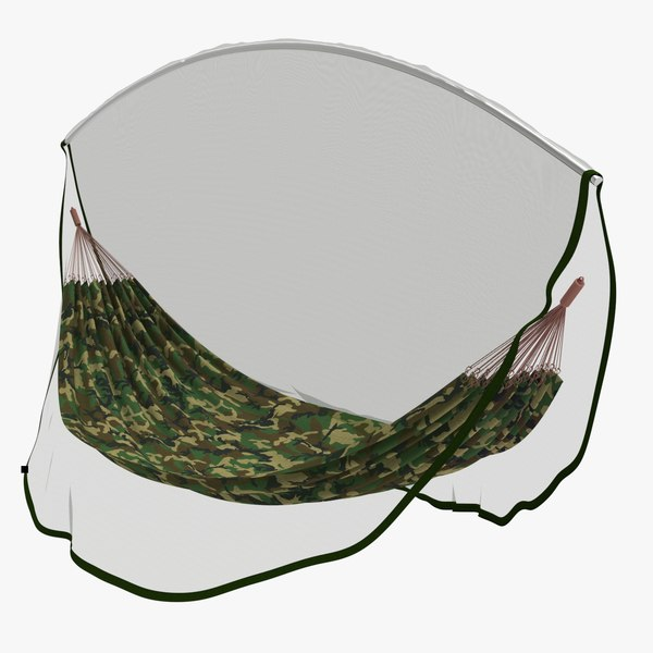 military hammock mosquito net 3D model