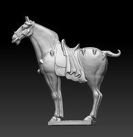 3D model horse
