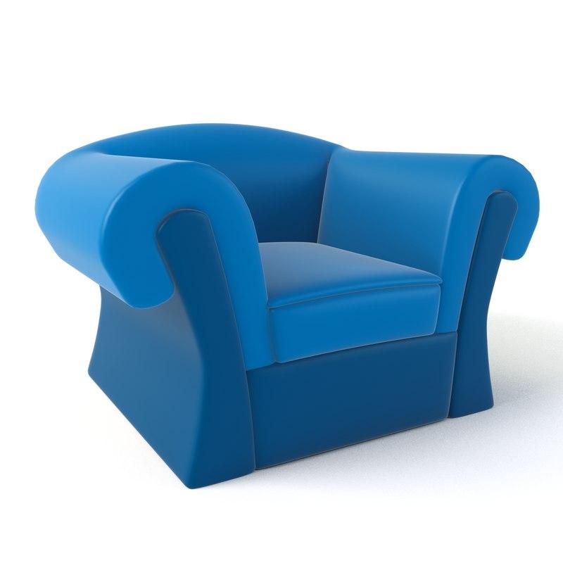 cartoon armchair 19 3D