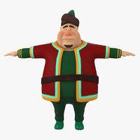 funny fat man model