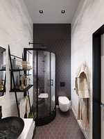 3D contemporary bathroom scene
