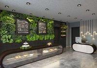 3D modern loft cafe model