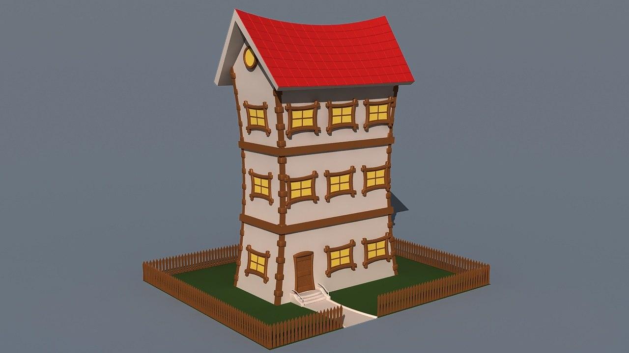 3D cartoon build 01 model