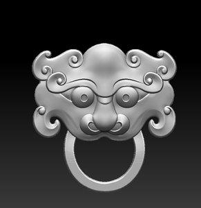 3D knock knocker model