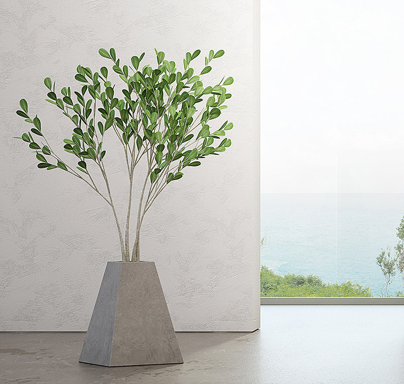 indoor concrete pot model