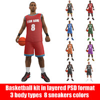 rigged basketball player ball model