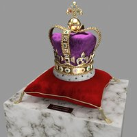 3D st edward crown model