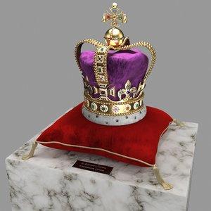 3D st edward crown model