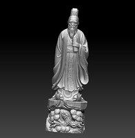 3D confucius statue