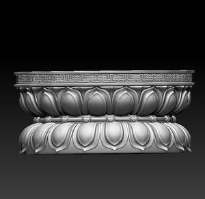 3D model seat buddha