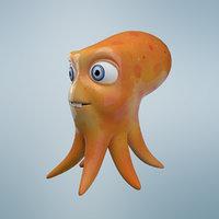 cartoon octopus model