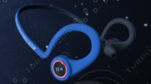 headphones plantronics backbeat 3D model