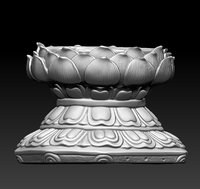 seat buddha 3D