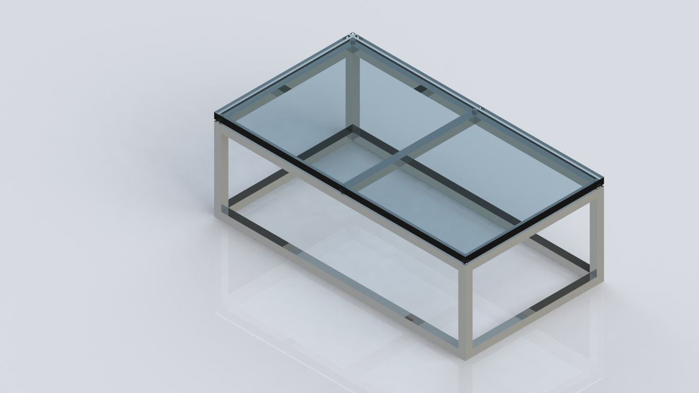 stainless steel coffee table model