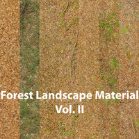 forest ground materials 3D model