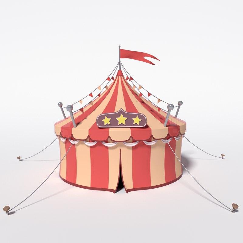 cartoon circus 3D model