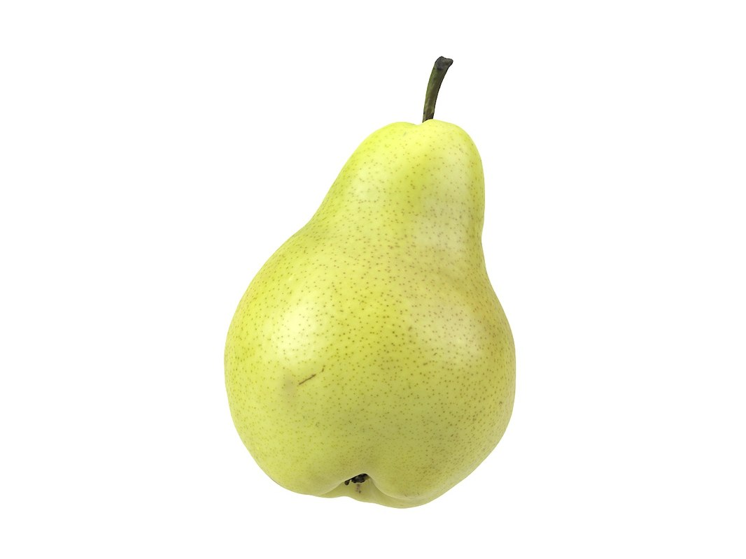 3D photorealistic scanned pear