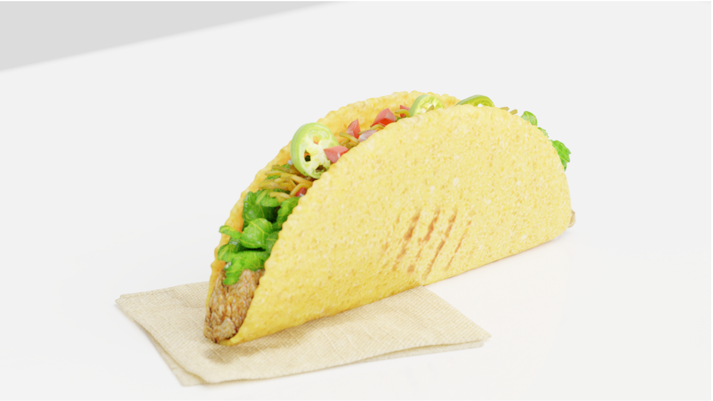 3D hard taco model