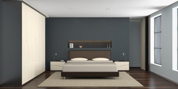 3D interior bedroom scene