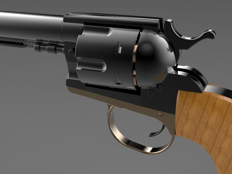 colt long barrel 3D