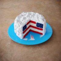 american national cake 3D model