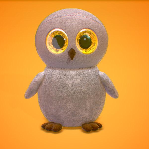 owl huge eyes model