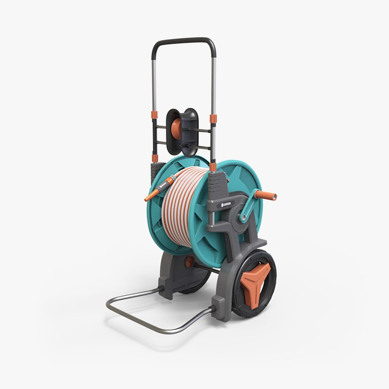 garden hose trolley 3D model
