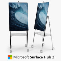 3D microsoft surface hub 2