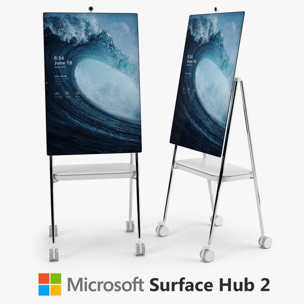 3D microsoft surface hub 2