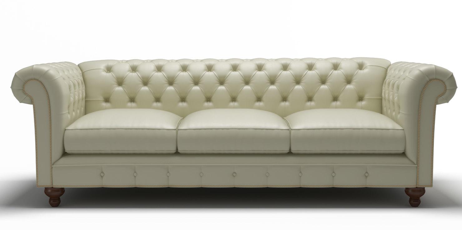 Leather sofa 3D model - TurboSquid 1289361