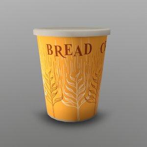 3D model cup breadcrumbs