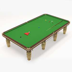 3D 12 snooker billiard table