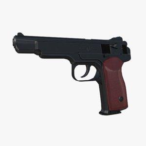 stechkin pistol aps 3D model