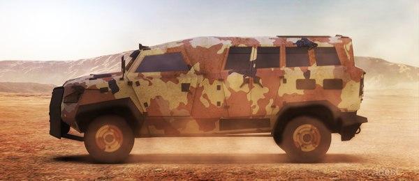 3D model vehicle military