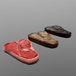 t-bone steak model