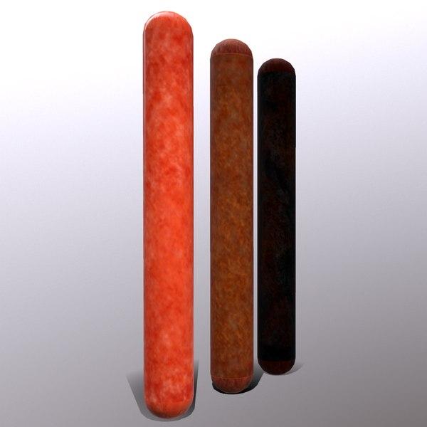 pepperoni stick 3D model