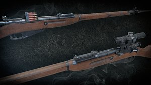 3D mosin-nagant rifle soviet