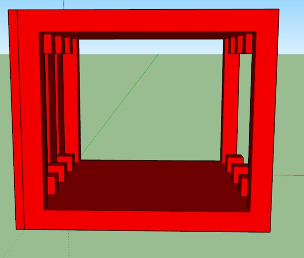 hdd cage storage 3D model