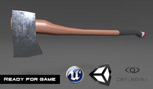 3D woodcutter axe bonus